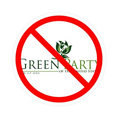 anti green party sticker