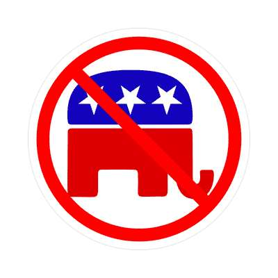 anti republican party sticker