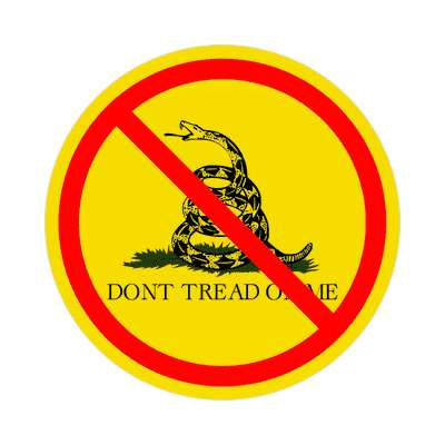 anti tea party red slash sticker