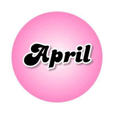 april female name pink sticker