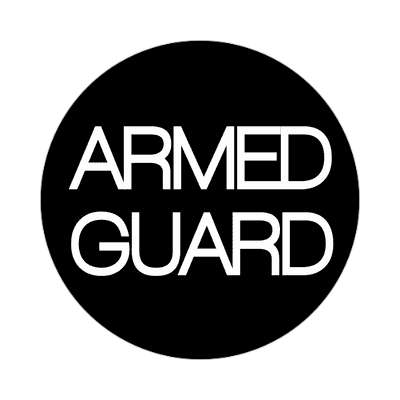 armed guard classic black sticker