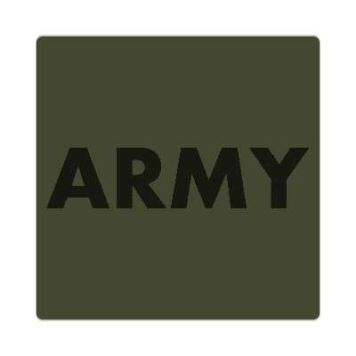 army dark green sticker