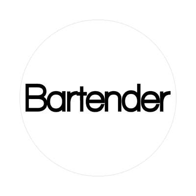 bartender sticker