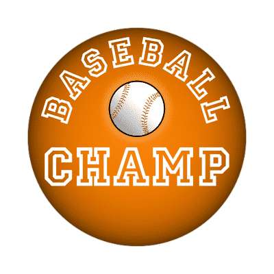 baseball champ sticker
