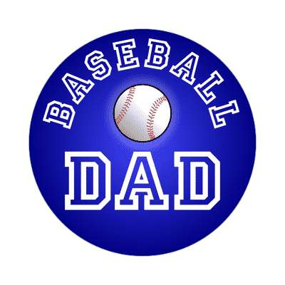 baseball dad sticker