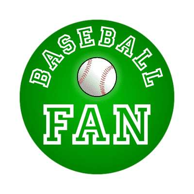 baseball fan sticker