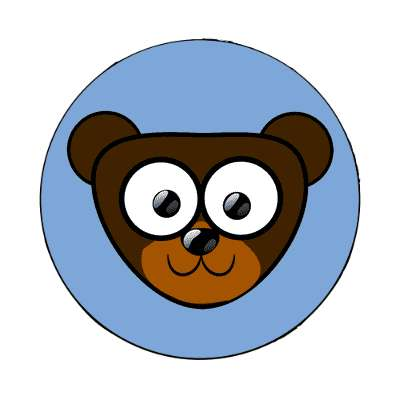 bear cartoon cute animal magnet