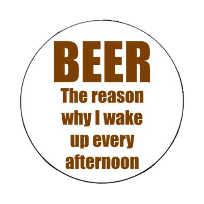 beer is the reason why i wake up every afternoon magnet