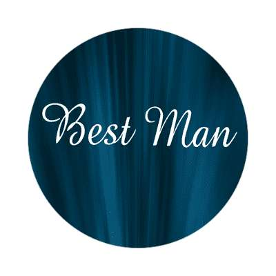 best man curtain dark blue sticker