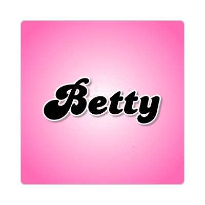 betty female name pink sticker