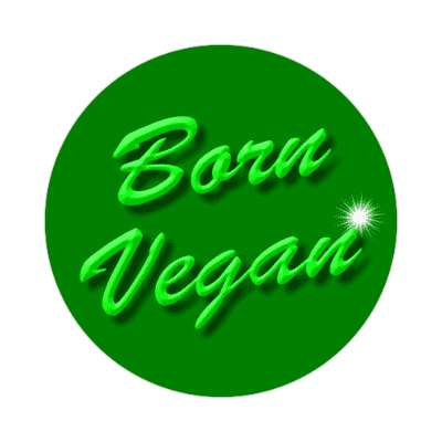 bevel italic born vegan sticker
