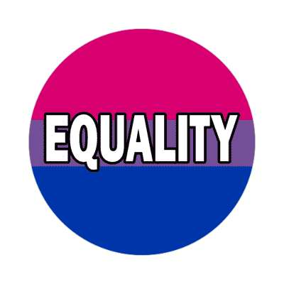 bisexual equality sticker
