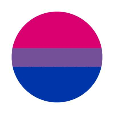 bisexual flag sticker