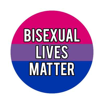 bisexual lives matter sticker