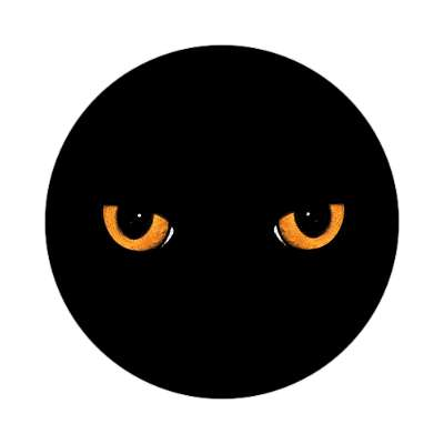 black cat eyes sticker