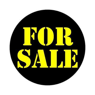 black for sale stencil sticker