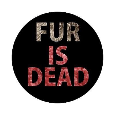 black fur is dead meat sticker