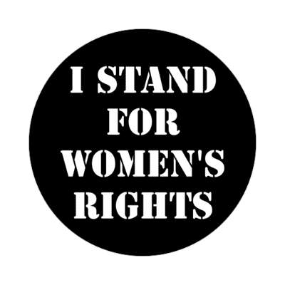 black i stand for womens rights stencil sticker