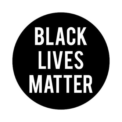 black lives matter bold sticker