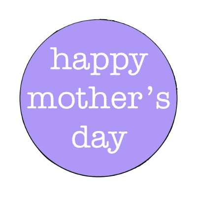 blue happy mothers day typewriter magnet