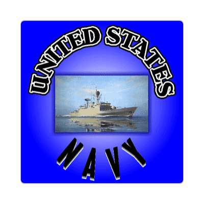 blue ship united states navy navy sticker