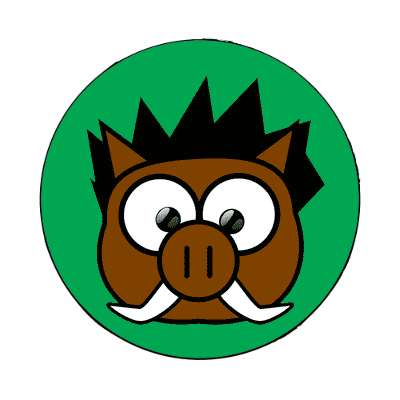 boar cartoon cute animal magnet