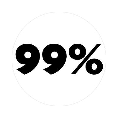 bold 99 percent white sticker