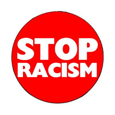 bold stop racism red magnet