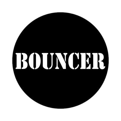 bouncer black stencil tall sticker