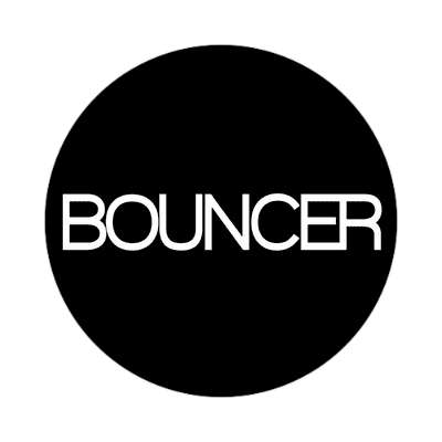 bouncer classic black sticker