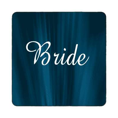 bride curtain dark blue magnet