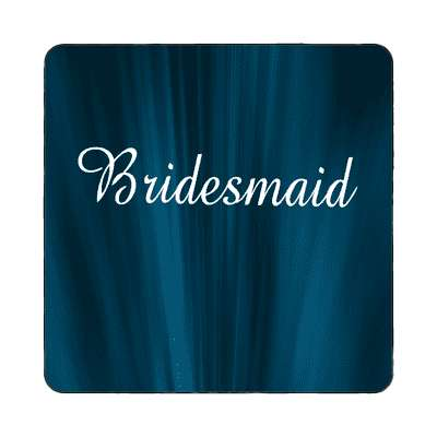 bridesmaid curtain dark blue magnet