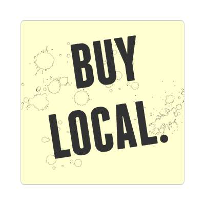 buy local modern cream sticker