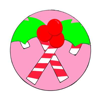 candy canes christmas berries pink magnet