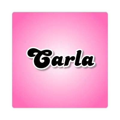 carla female name pink sticker
