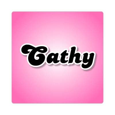cathy female name pink sticker