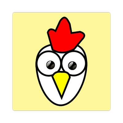 chicken cartoon cute animal sticker