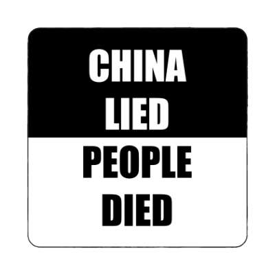 china lied people died black magnet
