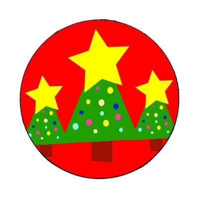 christmas tree red star decorations magnet