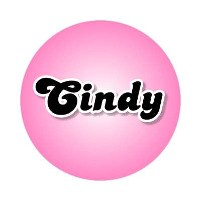 cindy female name pink sticker