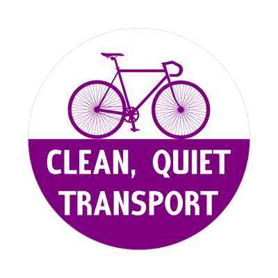 clean quiet transport silhouette bicycle sticker