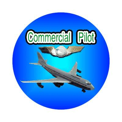 commercial pilot jet sticker