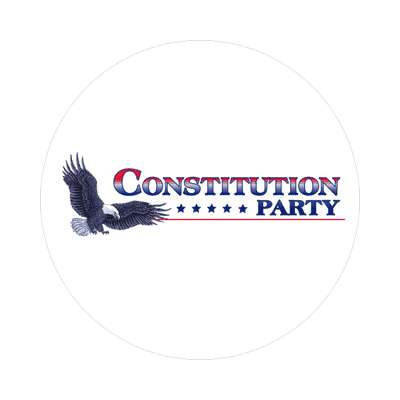 constitution party eagle logo sticker