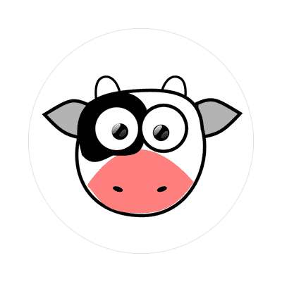 cow cartoon cute animal sticker