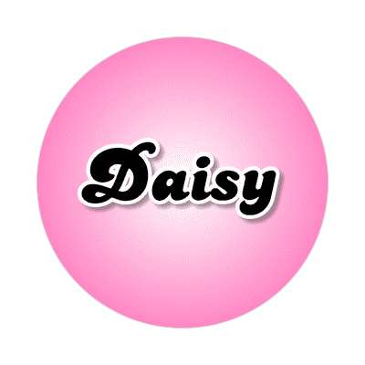 daisy female name pink sticker