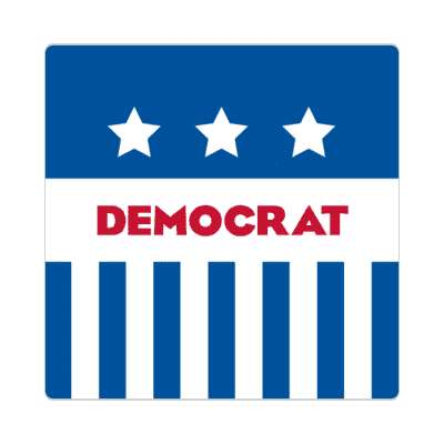 democrat blue lines stars sticker