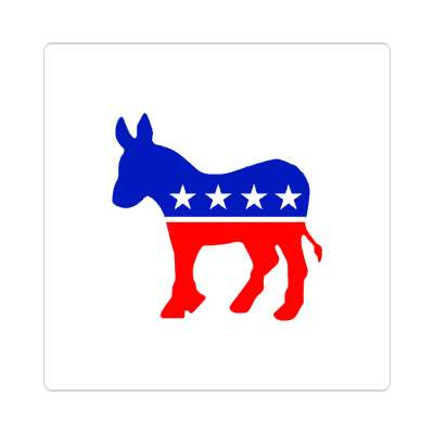 democrat party sticker
