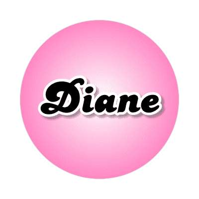 diane female name pink sticker