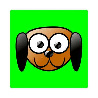 dog cartoon cute animal sticker