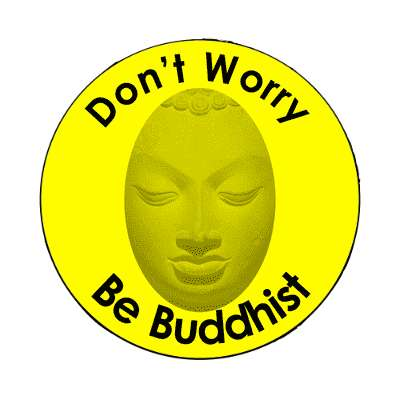 dont worry be buddhist magnet